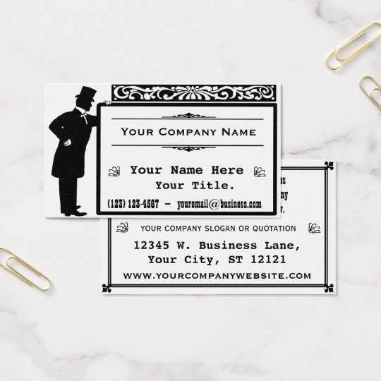 Vintage Victorian Gentleman Classic Business Card