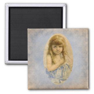 Vintage Victorian Girl Fridge Magnet