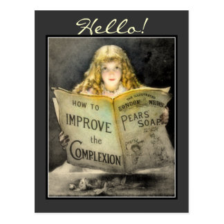 Vintage Victorian Girl Pears Soap Advert-Postcard Postcard