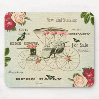 Vintage victorian girly mousepad w flowers