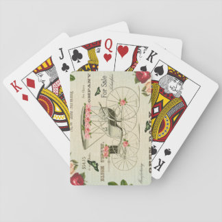 Vintage victorian girly playing cards w/ flowers