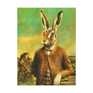 Vintage Victorian Hare Canvas