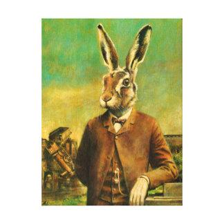 Vintage Victorian Hare Canvas Canvas Print