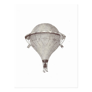 Vintage Victorian Hot Air Balloon Postcard