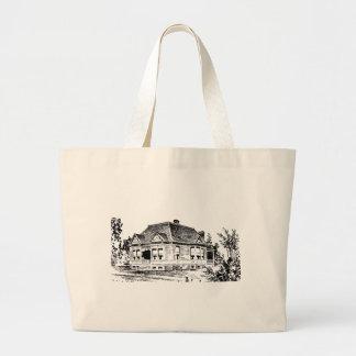 Vintage Victorian House Illustration Tote