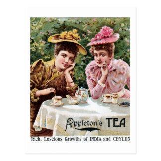 Vintage Victorian India and Ceylon tea ad Post Cards