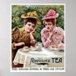 Vintage Victorian India and Ceylon tea ad Poster