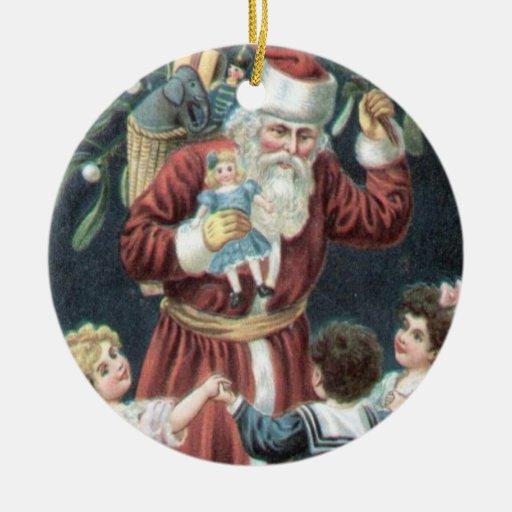 Vintage Victorian Jolly Santa Christmas Tree Christmas Tree Ornaments