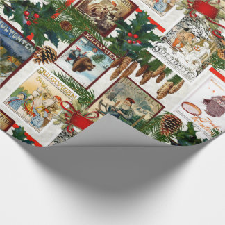 Vintage Victorian Jultomten Illustrations Wrapping Paper