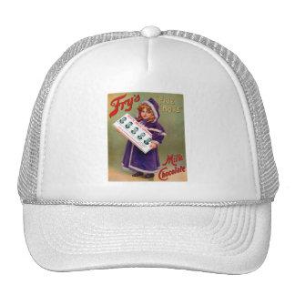 Vintage Victorian Kitsch Fry s Milk Chocolate Girl Trucker Hats