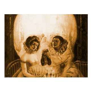 Vintage Victorian Kitsch Skull Optical Illusion Postcard