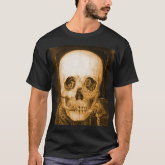 Vintage Victorian Kitsch Skull Optical Illusion T-Shirt