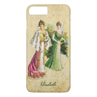 Vintage Victorian Ladies Fashion iPhone 7+ Case
