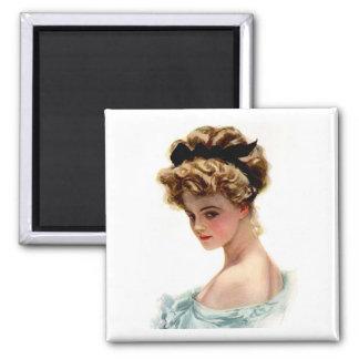 Vintage Victorian Lady Fridge  Magnet