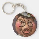Vintage Victorian Lady Pig, Silly, Funny,