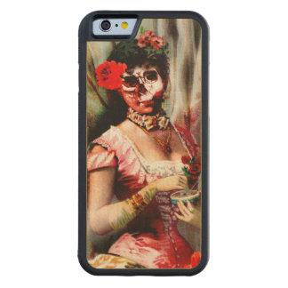 Vintage Victorian Lady Vanity Skull Wood IPhone 6 Maple iPhone 6 Bumper Case