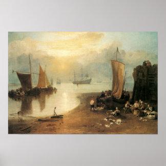 Vintage Victorian Maritime Fine Art, Joseph Turner Print
