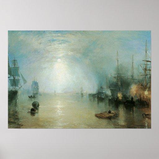 Vintage Victorian Maritime Seascape, Joseph Turner Poster