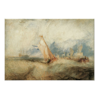 Vintage Victorian Maritime Ship Seascape by Turner Print