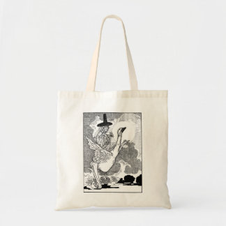 Vintage Victorian Mother Goose by Charles Robinson Budget Tote Bag