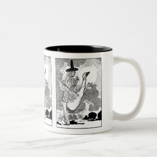 Vintage Victorian Mother Goose by Charles Robinson Two-Tone Coffee Mug