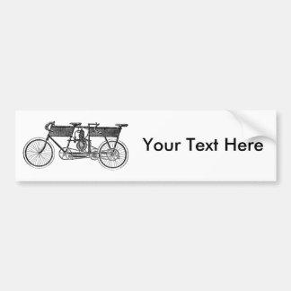Vintage Victorian Motorcycle Bumper Sticker