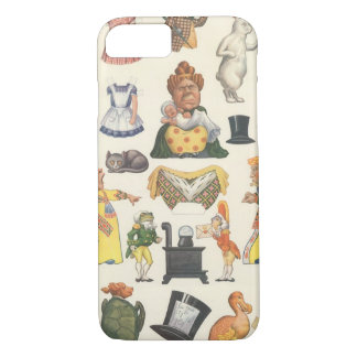Vintage Victorian Paper Doll Toy, Alice Wonderland iPhone 8/7 Case