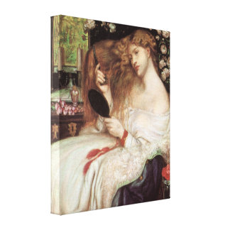 Vintage Victorian Portait, Lady Lilith by Rossetti Canvas Print