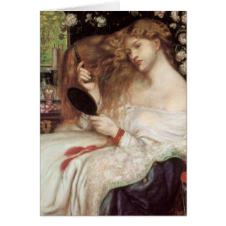Vintage Victorian Portait, Lady Lilith by Rossetti Card