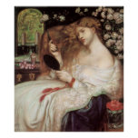 Vintage Victorian Portait, Lady Lilith by Rossetti Poster