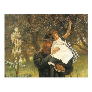 Vintage Victorian Portrait Art, Widower by Tissot Postcard