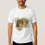 Vintage Victorian Religious Angels in Clouds T Shirts