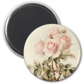 Vintage Victorian Romantic Roses 6 Cm Round Magnet