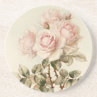 Vintage Victorian Romantic Roses Coasters