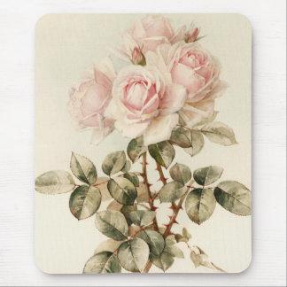 Vintage Victorian Romantic Roses Mouse Mat