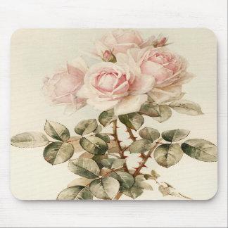 Vintage Victorian Romantic Roses Mousepads