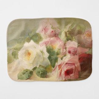 Vintage Victorian Rose Watercolor Burp Cloths