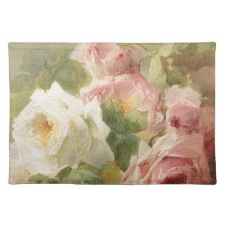 Vintage Victorian Rose Watercolor Placemat
