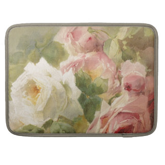 Vintage Victorian Rose Watercolor Sleeves For MacBooks