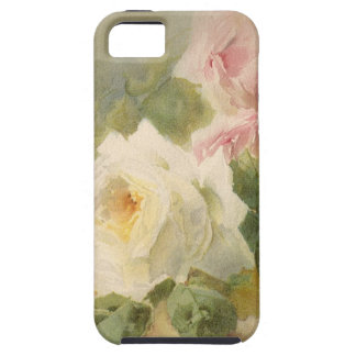 Vintage Victorian Rose Watercolor Tough iPhone 5 Case