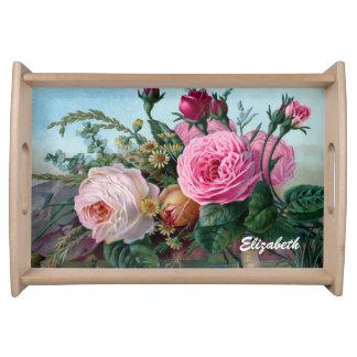 Vintage Victorian Roses Custom Tray