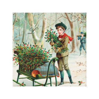 vintage,victorian,rustic,christmas,pattern,girl an canvas prints