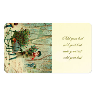 vintage,victorian,rustic,christmas,pattern,girl an pack of standard business cards