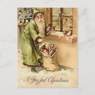 Vintage Victorian Santa Claus Holiday Postcard