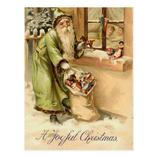 Vintage Victorian Santa Claus Postcard