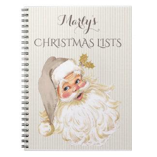 Vintage Victorian Santa Claus To Do Gift Book
