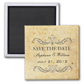 Vintage Victorian Save The Date Magnet