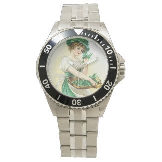 Vintage Victorian St. Patrick's Day Greeting Wrist Watches