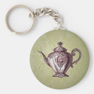 Vintage Victorian Teapot Key Ring