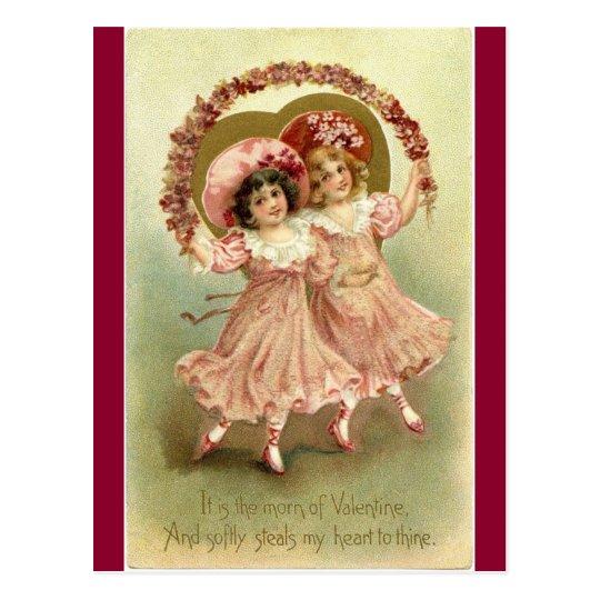 Vintage Victorian Valentines Angel Postcard